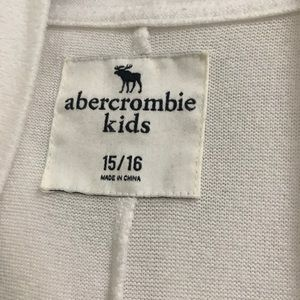 abercrombie kids Sweaters - white hooded abercrombie cardigan!